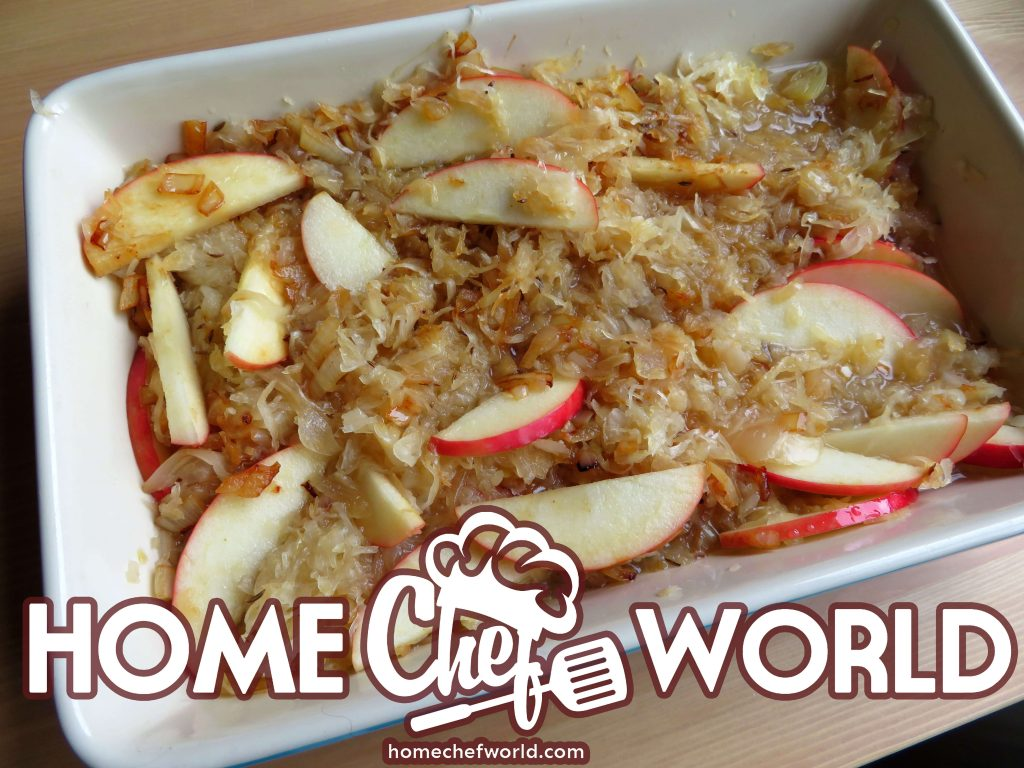 mix the kraut apple and onion
