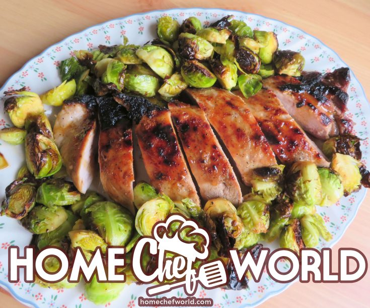 pork tenderloin with caramelized sprouts