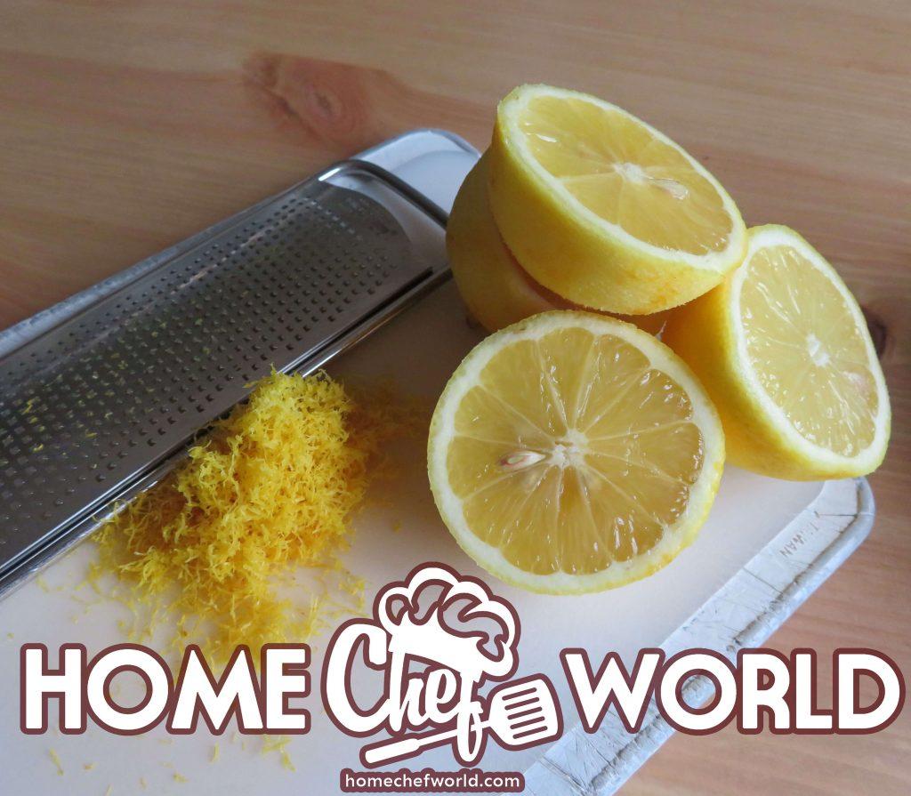 zest and juice of lemons