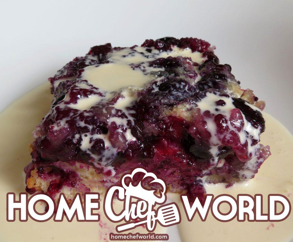 upside down berry cake