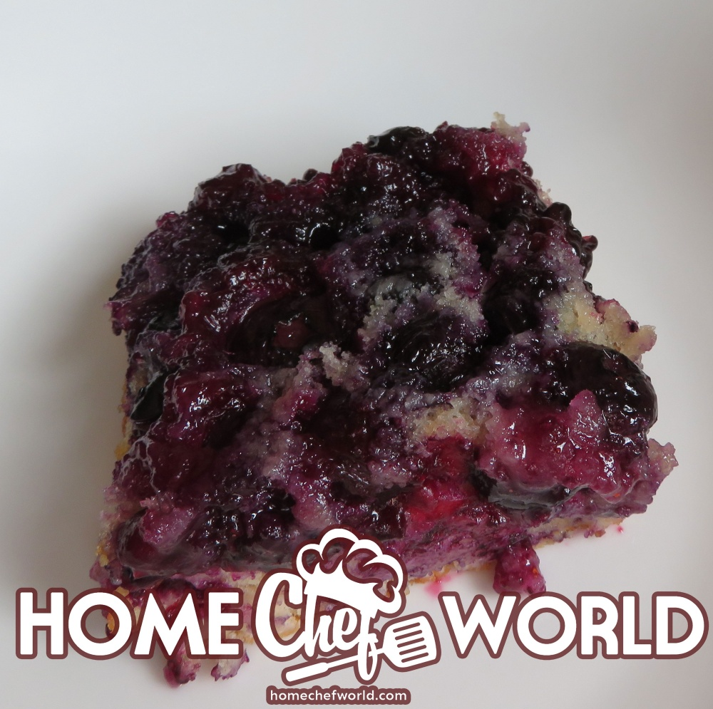 piece of upside down berry cake