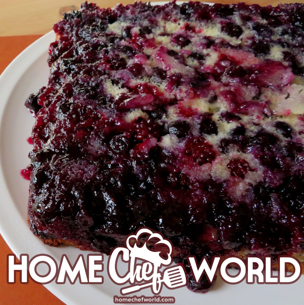 turning the berry cake
