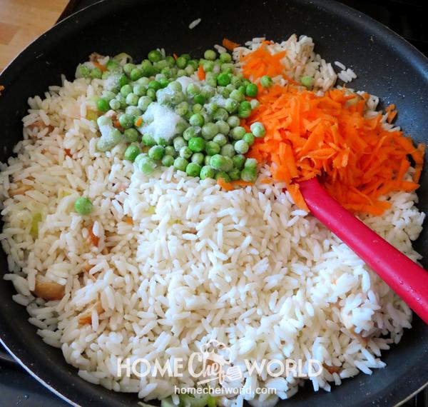 Adding Vegetables to Classic Pork Fried Rice Recipe