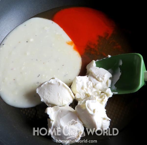 Begining Sauce for Buffalo Chicken Pasta Recipe