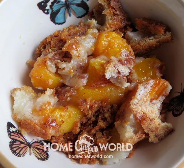 Cover Praline Peach Cobbler Recipe