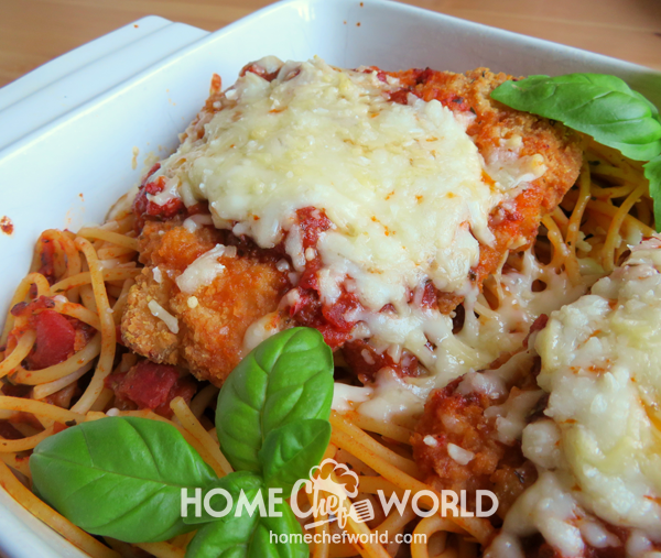 Easy Chicken Parmesan Recipe Presentation
