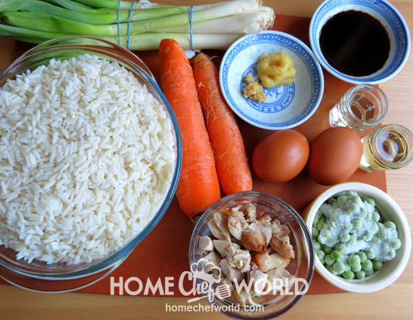 Ingredients for Classic Pork Fried Rice Recipe