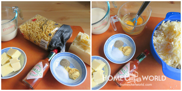 Ingredients for Easy Mac and Cheese Stovetop Recipe