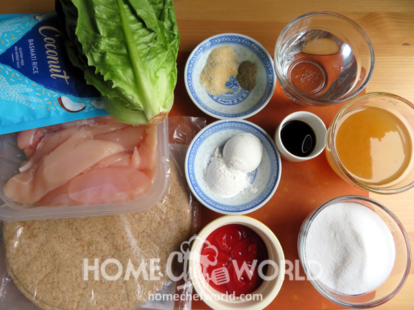 Ingredients for Sweet & Sour Chicken Wraps Recipe