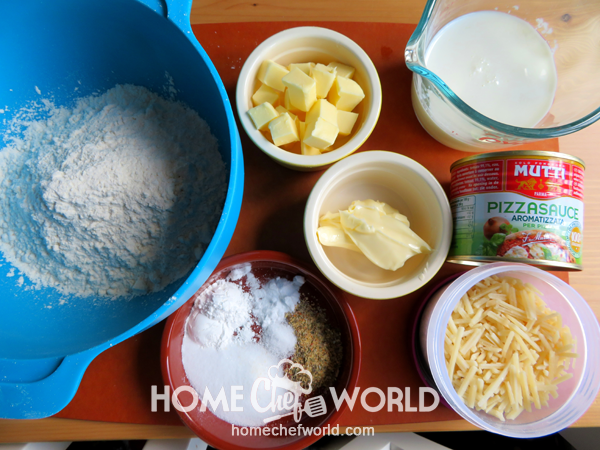 Ingredients for Twisted Pizza Breadsticks Recipe
