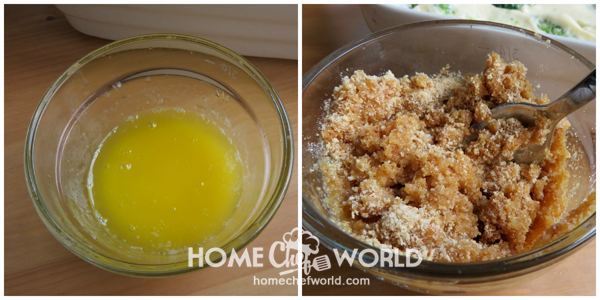Making the Bread Crumb Topping for Chicken Casserole Recipe Ready
