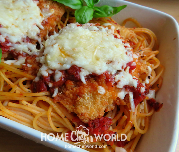 Out of the Oven Easy Chicken Parmesan