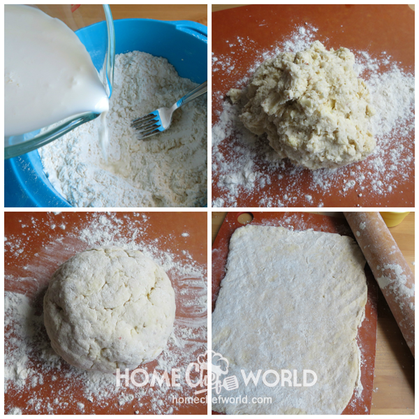 Putting Together Dough 2 Twisted Pizza Breadsticks Recipe