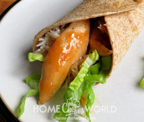 Sweet & Sour Chicken Wraps Recipe Finished
