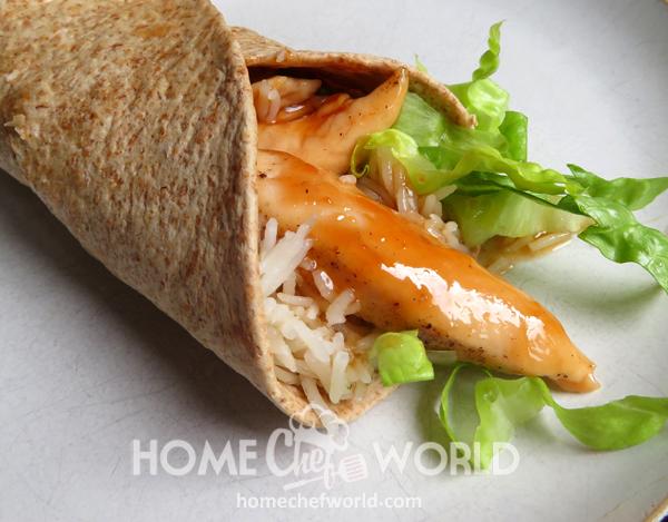 Sweet & Sour Chicken Wraps Recipe
