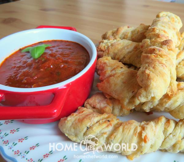 Twisted Pizza Breadsticks Recipe Presentation