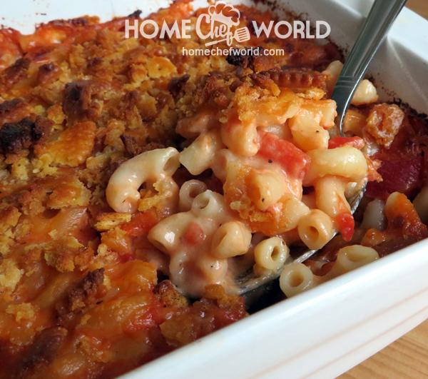 Dishing Up Macaroni & Cheese with Tomatoes