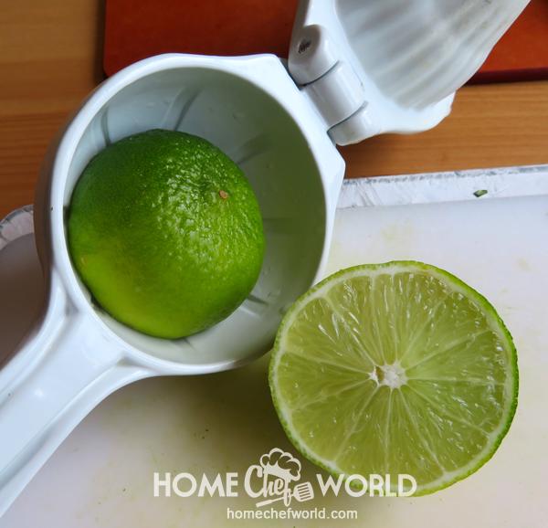 Adding Lime Juice to Avocado Guacamole