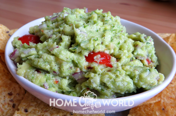 Avocado Guacamole Recipe Presentation