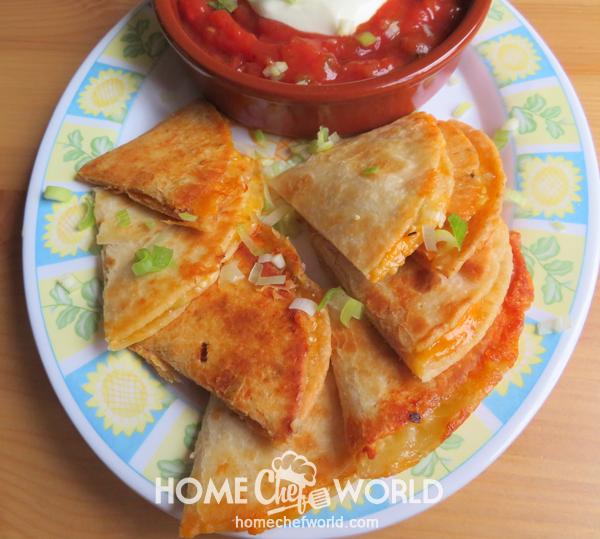 Cheese Quesadilla Recipe Presentation