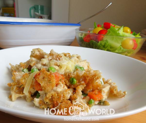 Chicken Noodle Casserole on Plate