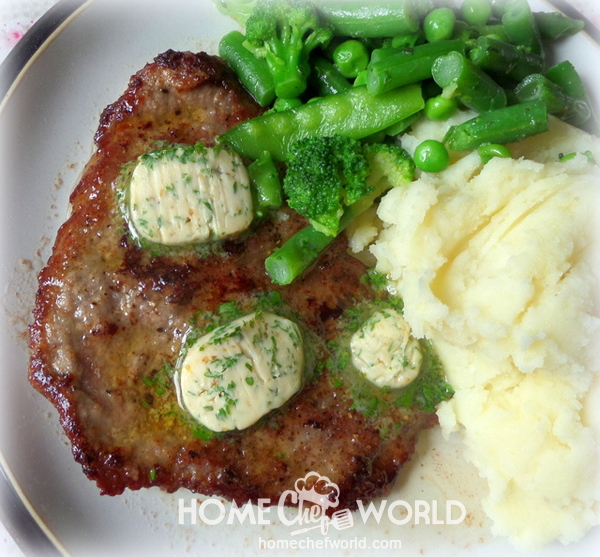 Cube Steak with Garlic & Parsley Butter Recipe