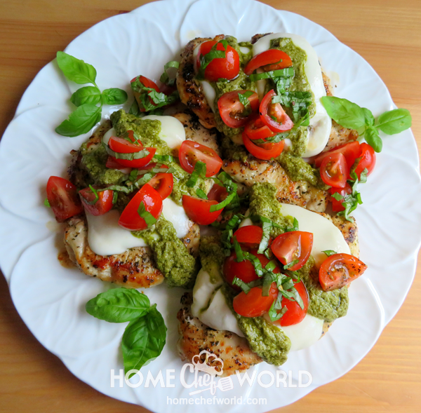 Easy Chicken Margherita Ready on Plate