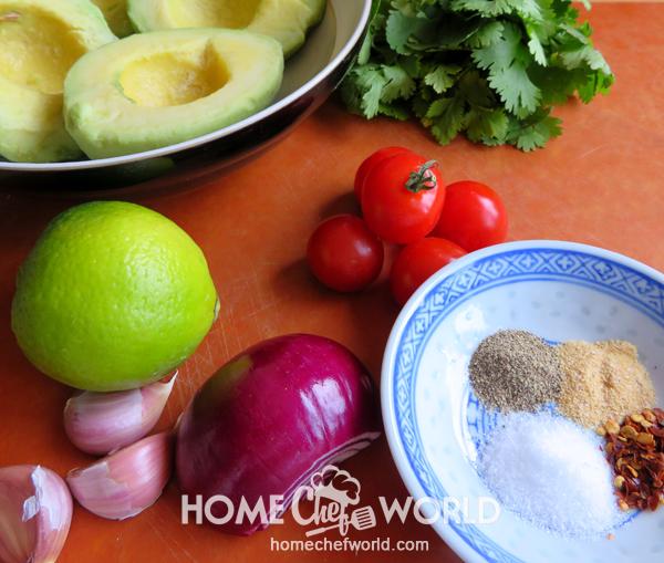 Ingredients for Avocado Guacamole Recipe