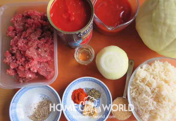 Ingredients for Cabbage Roll Casserole Recipe
