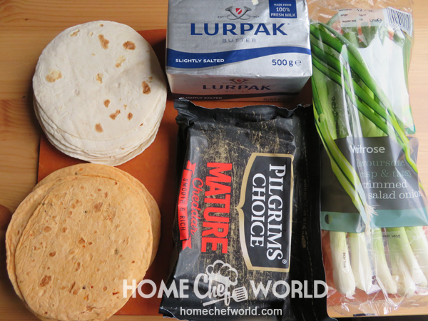 Ingredients for Cheese Quesadilla Recipe