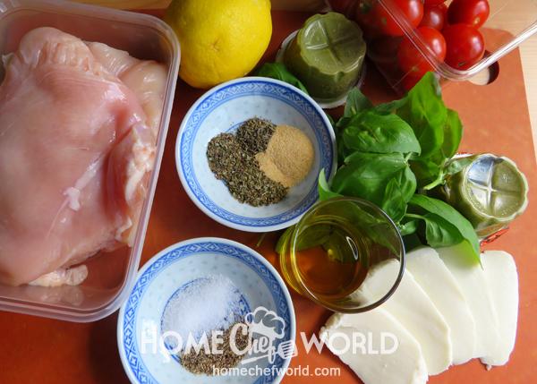 Ingredients for Chicken Margherita Recipe
