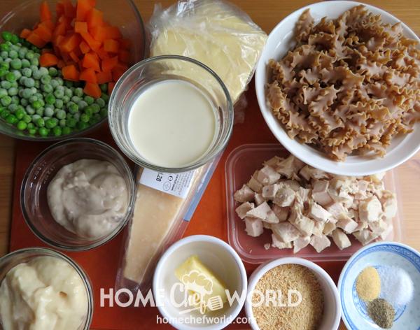 Ingredients for Chicken Noodle Casserole Recipe
