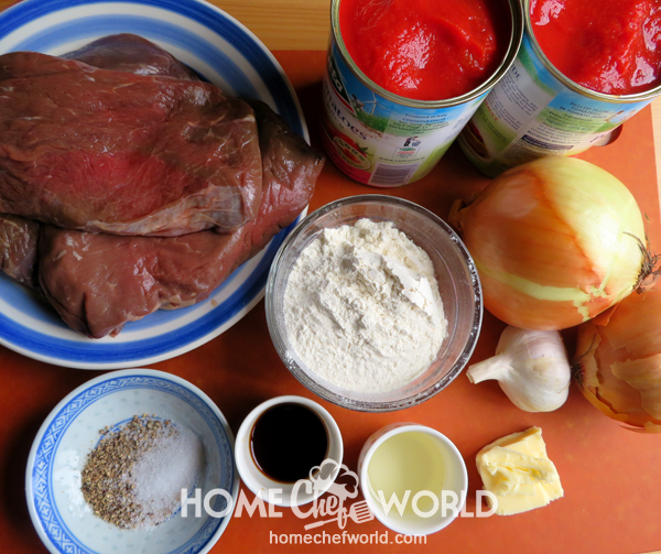Ingredients for Swiss Steak Recipe