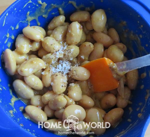 Salt on Beans Preparing Lima Bean Recipe