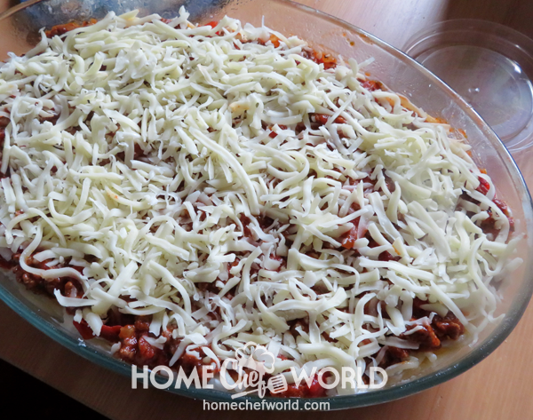 Baked Spaghetti Ready for the Oven