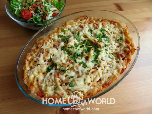 Cheesy Chicken Spaghetti Recipe