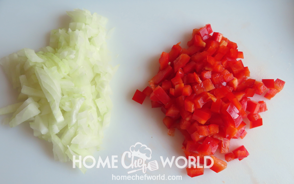 Chopped Onions and Peppers