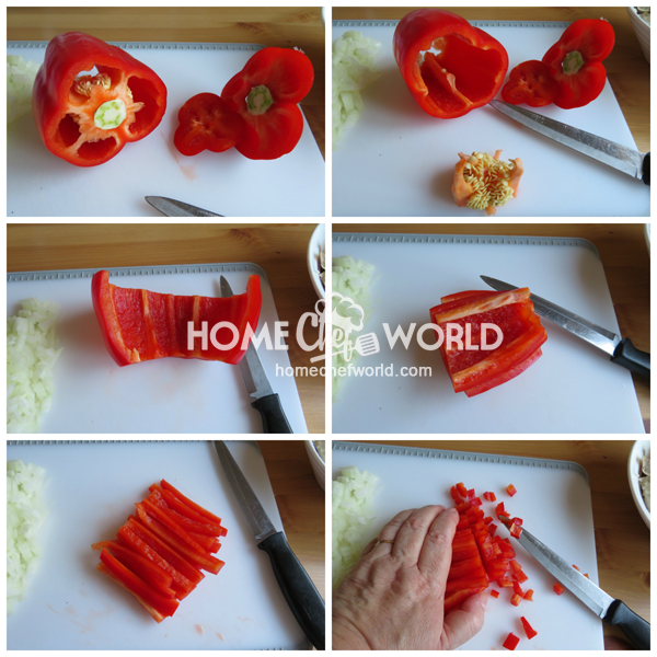 How to trim clean and easily chop a bell pepper