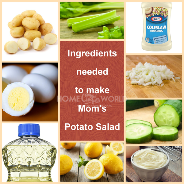 Ingredients Needed to Make Mom's Potato Salad