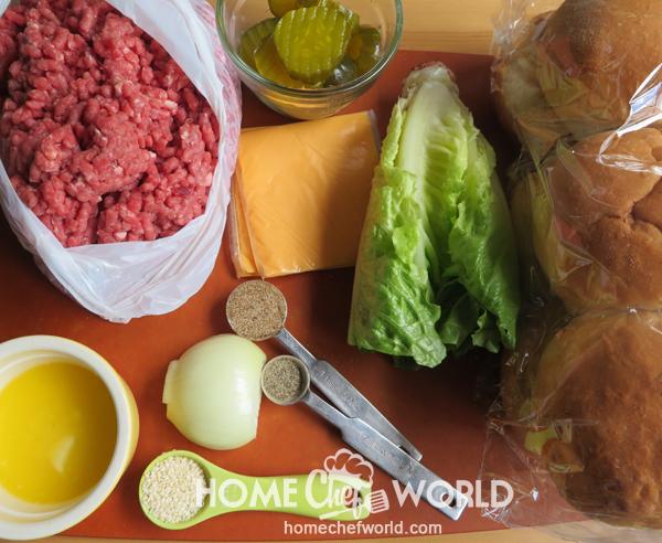 Ingredients for Big Mac Sliders Recipe