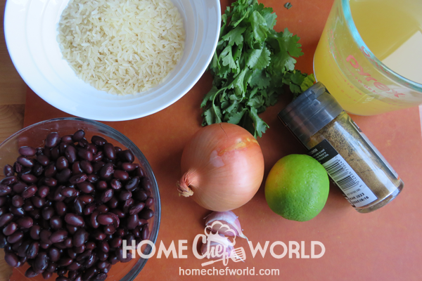 Ingredients for Black Beans and Rice Recipe