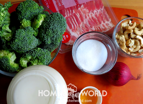 Ingredients for Broccoli Salad Recipe