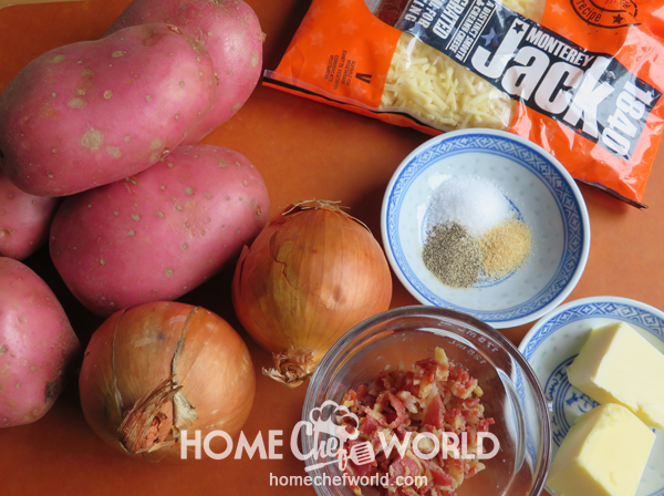Ingredients for Campfire Potatoes Recipe