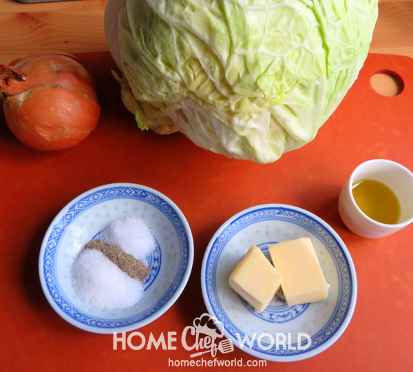 Ingredients for Fried Cabbage Recipe