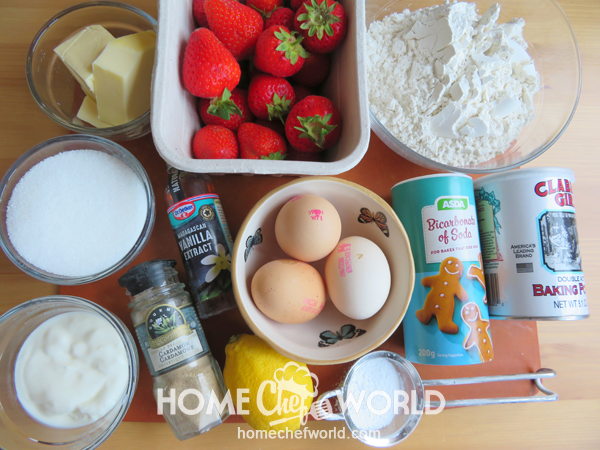 Ingredients for Strawberry Bread Recipe