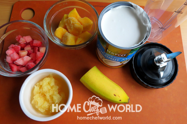 Ingredients for Tropical Smoothie Recipe