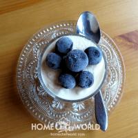 Lemon Mousse with Cranberries Recipe