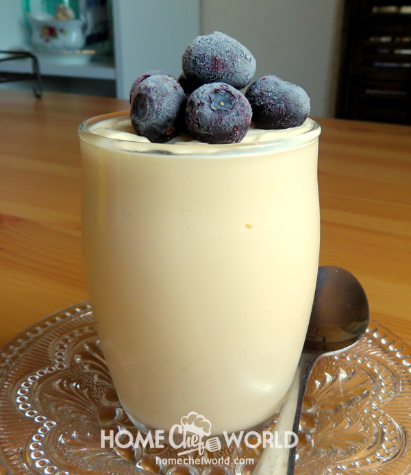 Lemon Mousse with Cranberries Recipe Presentation