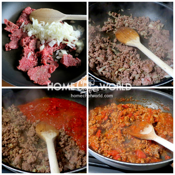Making the Sauce for Baked Spaghetti Recipe