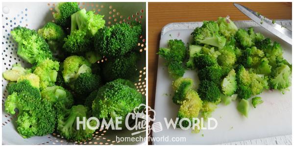 Preparing Broccoli for Broccoli Salad